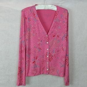 Fresh Produce Floral Button Down Cardigan Small
